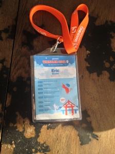 Eric's badge