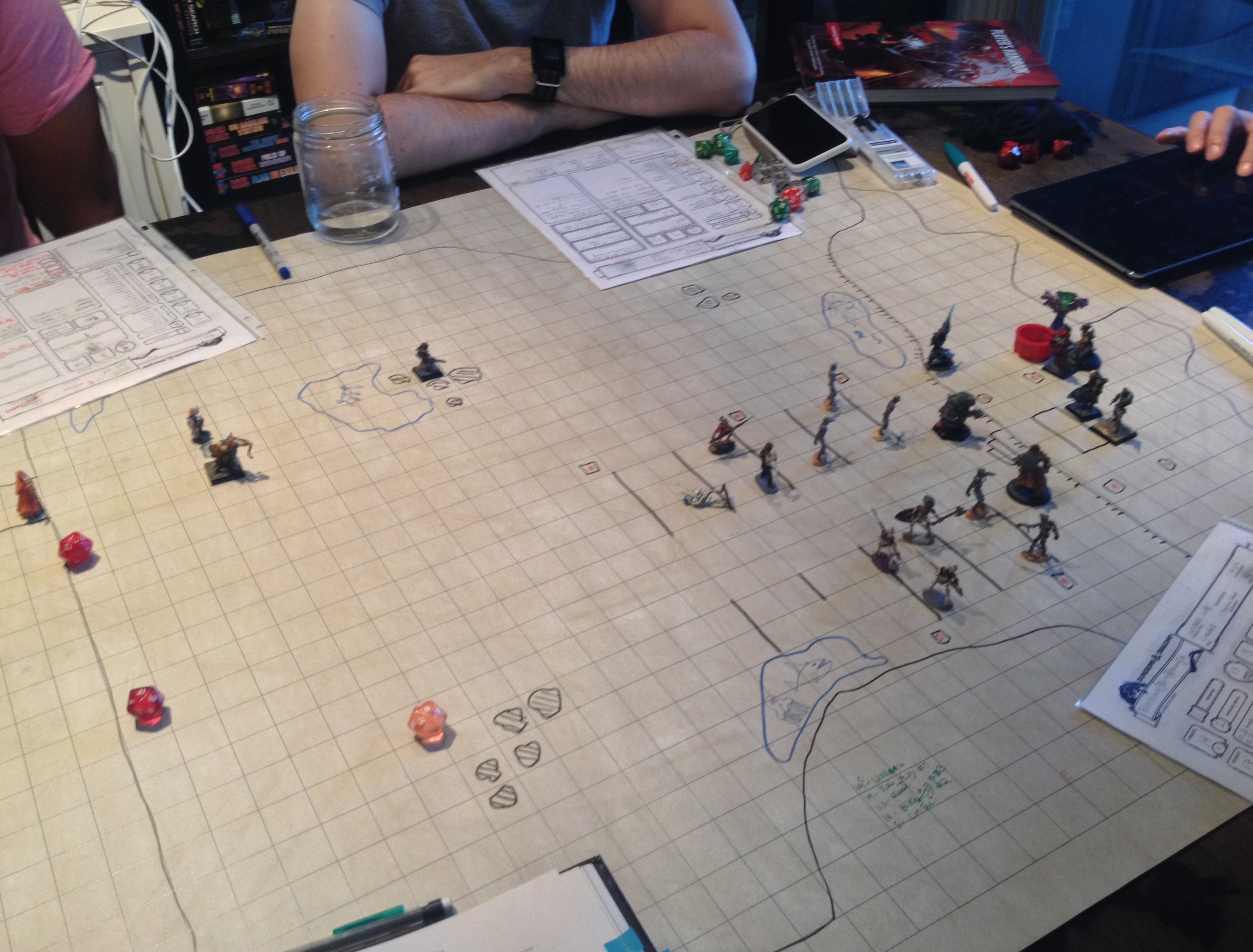 Wipe map and miniatures