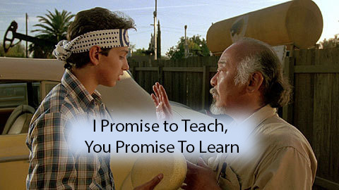 I promise to Teach, you promise to lear